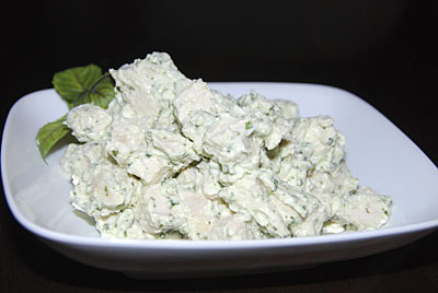Basil Parmesan Chicken Salad