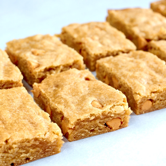 Butterscotch Bourbon Blondies
