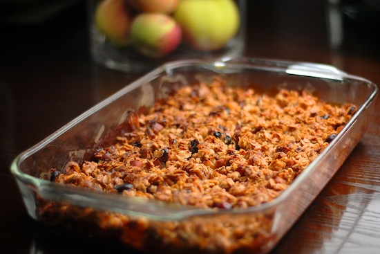 Stylish Cuisine « Breakfast Apple Granola Crisp