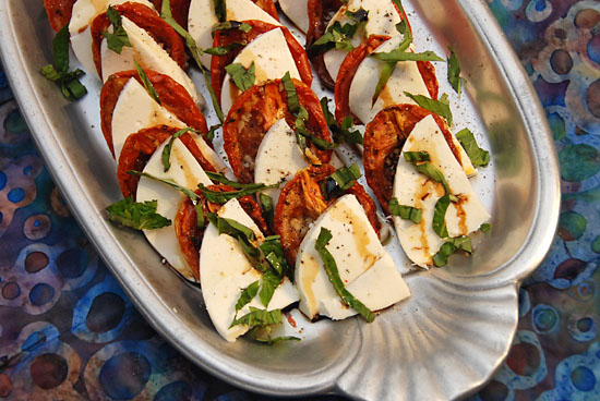 stylish cuisine « roasted tomato caprese salad