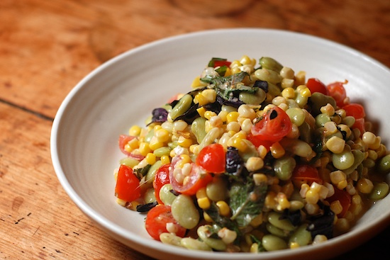 Stylish Cuisine « Toasted Corn, Cherry Tomato, and Edamame Salad