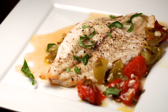 Stylish Cuisine « Baked Flounder with Tomatoes and Basil