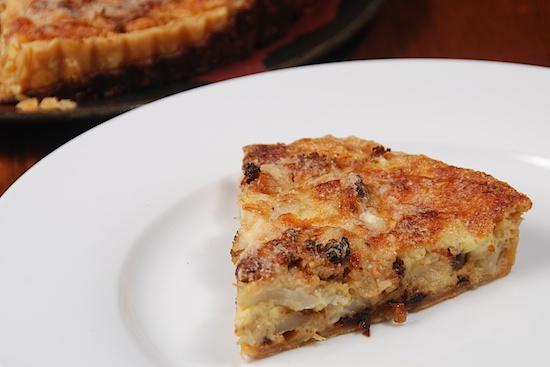caramelized onion tart cauliflower and caramelized onion tart