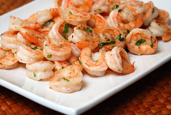 Stylish Cuisine « Pan Seared Shrimp With Garlic-Lemon Butter