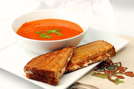 soup and panini