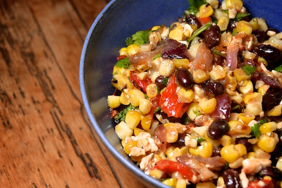 Stylish Cuisine « Spicy Grilled Corn Salad with Black Beans and Feta