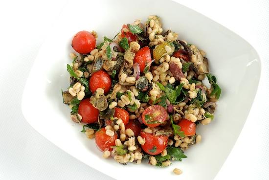 Stylish Cuisine « Mediterranean Eggplant and Barley Salad